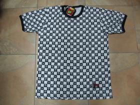 SKA dámske tričko s lebkami čiernobiele, 100%bavlna