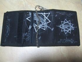 Slipknot, hrubá pevná textilná peňaženka s retiazkou a karabínkou