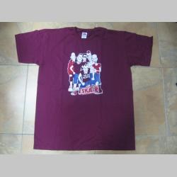 SKA-P  bordové pánske tričko 100%balna