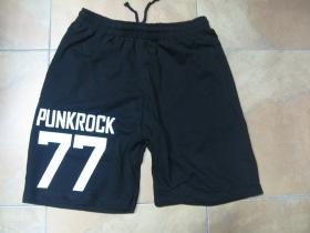 Punkrock 77 čierne teplákové kraťasy s tlačeným logom