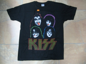 Kiss čierne pánske tričko 100%bavlna
