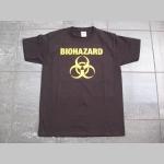 Biohazard čierne pánske tričko 100%bavlna značka Fruit of The Loom