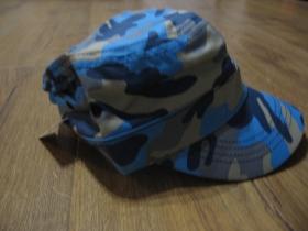 šiltovka - čiapka US modrý maskáč 100%bavlna, univerzálna nastaviteľná veľkosť