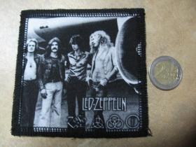 Led Zeppelin ofsetová nášivka po krajoch obšívaná cca. 9x9cm