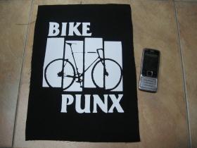 Bike Punx chrbtová nášivka veľkosť cca. A4 (po krajoch neobšívaná)