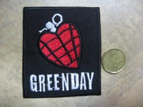 Green Day  nažehľovacia nášivka vyšívaná (možnosť nažehliť alebo našiť na odev)