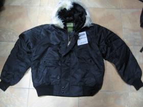 """Hrubá zimná bunda typ """"PARKA"""" COMMANDO N2B čierna s kožušinovým límcom"""