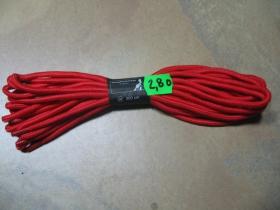 šnúrky do 20 až 30 dierkových topánok červené s dĺžkou 300cm  značka Knightbride