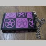 Pentagramy peňaženka s retiazkou a karabínkou, materiál: imitácia kože, rozmery: 13x9x2cm
