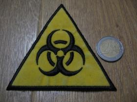 Biohazard -  nažehľovacia vyšívaná nášivka (možnosť nažehliť alebo našiť na odev) rozmery: 9 x 9cm  materiál100%bavlna