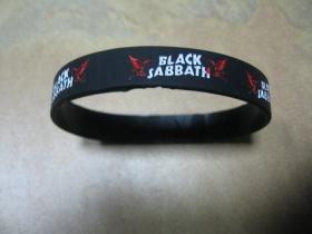 Black Sabbath   pružný gumenný náramok s vyrazeným motívom