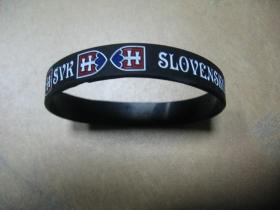 Slovakia - Slovensko  pružný gumenný náramok s vyrazeným motívom