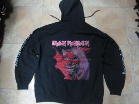 Iron Maiden  čierna pánska mikina na zips s kapucou