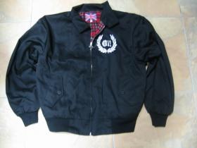 Oi! pánsky Harrington, čierny, povrch 65%bavlna 35%polyester, podšívka 100%bavlna