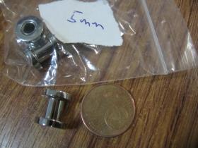 Tunel do ucha z leštenej chirurgickej ocele priemer 5mm