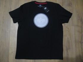 "Alpha Industries čierne pánske tričko ""Hologram"" materiál 100%bavlna posledné kusy M, L"