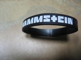 Rammstein   pružný gumenný náramok s vyrazeným motívom