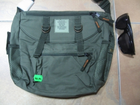 olivový plecniak - chlebník, taška cez plece, nastaviteľný pás  materiál 100%polyester rozmery cca. 30x25x10cm