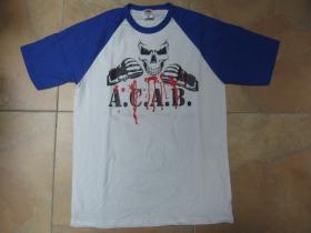 A.C.A.B.  pánske dvojfarebné tričko 100%bavlna značka Fruit of The Loom (viacero farebných prevedení)