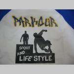 Parkour Sport and Lifestyle  pánske dvojfarebné tričko 100%bavlna značka Fruit of The Loom (viacero farebných prevedení)
