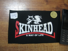 Skinhead a Way of Life potlačová nášivka po krajoch neobšívaná