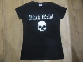Black metal dámske tričko Fruit of The Loom 100%bavlna