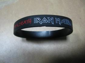 Iron Maiden   pružný gumenný náramok s vyrazeným motívom