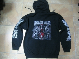 Cradle of Filth čierna pánska mikina na zips s kapucou