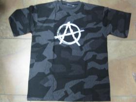 """Anarchy áčko v krúžku   nočný """" ruský """" maskáč-Nightcamo SPLINTER, pánske tričko 100%bavlna"""