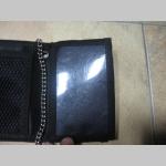Slipknot hrubá pevná textilná peňaženka s retiazkou a karabínkou