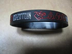 Led Zeppelin   pružný gumenný náramok s vyrazeným motívom