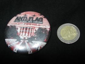 Anti Flag  odznak veľký, priemer 55mm