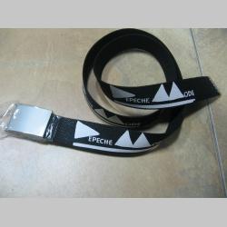 Depeche Mode hrubý látkový opasok so zapínaním na posuvnú kovovú pracku, univerzálna nastaviteľná dĺžka, šírka 37mm