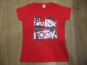 Punk rock Tartan dámske tričko 100%bavlna značka Fruit of The Loom