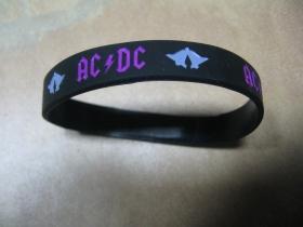 AC/DC   pružný gumenný náramok s vyrazeným motívom