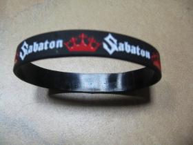 Sabaton  pružný gumenný náramok s vyrazeným motívom