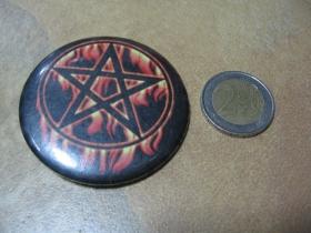 Horiaci Pentagram odznak veľký, priemer 55mm