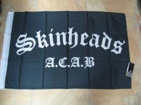 Vlajka Skinhead A.C.A.B.  rozmery cca.90x60cm  materiál 100%polyester