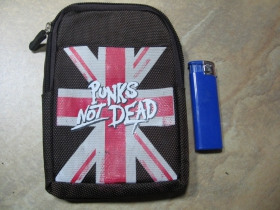 Punks not Dead  taštička na doklady s karabínkou, pripevniteľná na opasok materiál 100%polyester obmedzené zásoby!!!