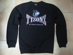 Tysonz čierna pánska mikina bez kapuce