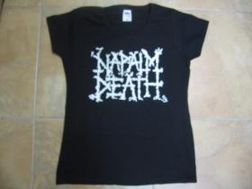 Napalm Death  čierne dámske tričko Fruit of The Loom 100%bavlna