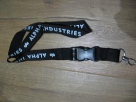 Alpha Industries čierna kľúčenka na šnúrke