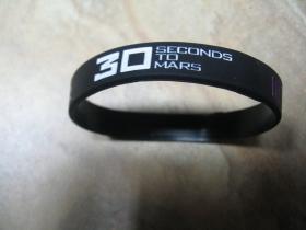 30 Seconds To Mars   pružný gumenný náramok s vyrazeným motívom