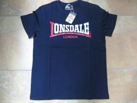 Lonsdale tmavomodré pánske tričko TWO TONE  100%bavlna TOP KVALITA posledné kusy veľkosť M a XXL