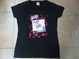 Exploited - Punks not Dead, čierne dámske tričko 100%bavlna