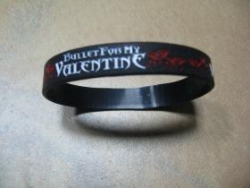 Bullet For My Valentine pružný gumenný náramok s vyrazeným motívom