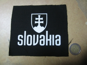 Slovakia potlačená nášivka rozmery cca. 12x12cm (po okrajoch neobšívaná)