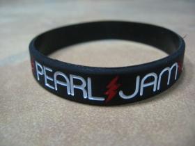 Pearl Jam pružný silikónový náramok s vyrazeným motívom