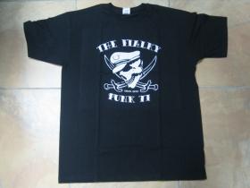 The Fialky Punk 77 čierne pánske tričko 100%bavlna