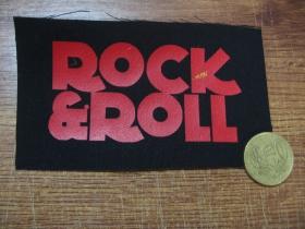 Rock n Roll potlačová nášivka po krajoch neobšívaná